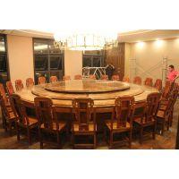 名琢世家专业生产各种规格刺猬紫檀圆餐桌圆餐台 低价批发