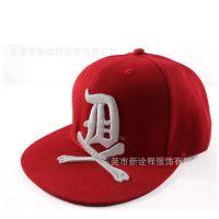 当季流行新款危险标志嘻哈帽棒球帽出口外贸棒球帽专业定做厂家