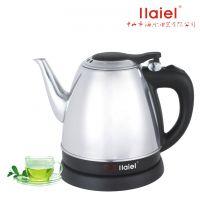 全不锈钢电热水壶礼品单长嘴烧水壶1.2L泡茶壶