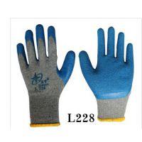 北极星黑灰防割手套作业防护浸胶劳保用品玻璃厂建筑手套