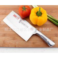 出口高品质厨房刀具 一体不锈钢菜刀 坚固耐用厨用刀 菜刀批发