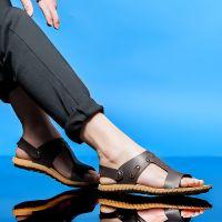 2015夏季新款男士凉鞋两用凉鞋男鞋夏季沙滩鞋真皮休闲凉拖鞋批发