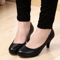 白色高跟鞋黑色韩版职业OL女式工作皮鞋简约2015春秋新款亚光单鞋