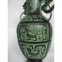 双龙瓶、 仿古青铜器、 工艺品摆件、 双龙瓶、 厂家直销礼品
