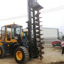 电线杆钻孔机器电线杆挖坑机图片铲车改装