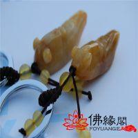 【佛缘阁】厂家直销天然黄玉钥匙扣  招财金蝉  翡翠 挂件