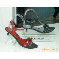透明有机玻璃鞋架,亚克力热弯鞋架上面丝印LOGO
