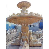 石雕欧式风水轮流水喷泉落地大型人物水池现代喷水喷泉水景摆件