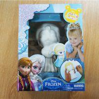 石膏彩绘批发 创意涂鸦diy玩具石膏娃娃 卡通白模艾莎公主套装