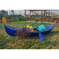 精品欧式木船 4米贡多拉手划船 贡多拉木船 景观装饰船 颜色可选
