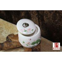 陶瓷罐子礼品,个性陶瓷罐定做,陶瓷蜂蜜罐