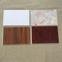 华仑观色奢华高档仿木线花纹立体设计30公分环保发泡pvc竹木纤维板 快装板量大从优