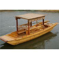 【楚风木船】定制木船 休闲观光船 水上餐饮船 水上房船 带棚带桌船