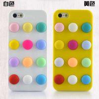 新款iPhone4/4S波点 手机壳 苹果5手机外壳 硅胶保护套 点点