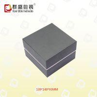 深圳厂家 直角黑色纸质翻盖手表盒 LOH-994
