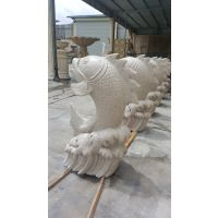 园林雕塑喷水雕塑砂岩喷水鱼番禺鎏芳雕塑公司