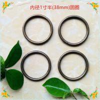 供应优质1寸半圆圈 38mm圆圈 铁线圈 圆环 圆形扣 扣具