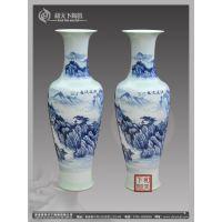 优质户外大型陶瓷大花瓶 开业礼品 纯手工手绘酒店落地花瓶摆件