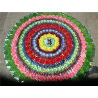 2米花圈A-09 雄县米家务镇正乾花圈厂,批发各尺寸布花圈,可来样订做。