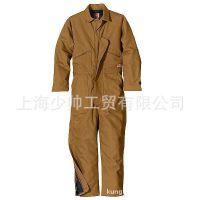 外贸连体工作服加工 外贸服装 上海连体服订做 定制特种行业工服