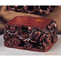 炭雕吉祥坊碳雕名片盒商务办公礼品促销订单-花开富贵
