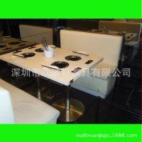 韩式无烟烧烤桌 烤肉桌 自助烧烤桌 烧烤火锅一体桌防火板无烟