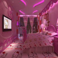 主题酒店墙纸定制 情趣酒店宾馆床头壁画 大型风景壁画墙纸