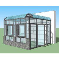 中国铝门窗十大品牌之康盈门窗供应六盘水市各种豪华阳光房KY-50--阳光房