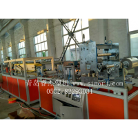 竹木纤维集成墙面生产线/生态护墙板生产机器