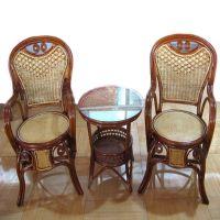 10107家居用品批发代理加盟,家庭客厅会客用藤椅,带茶几