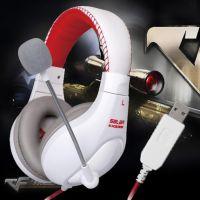 声籁KX235 教学电脑耳机耳麦头戴式带麦克风 游戏影音有线耳机潮