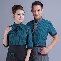 酒店工作服短袖 夏季餐饮服务员 甜品店男女工作服 中餐厅短袖