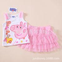 佩佩猪 Peppa pig 无袖背心+裙套装 女童裙套装 春秋款 PPTZ01