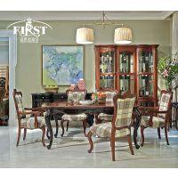 威廉小镇简欧C005餐厅成套欧式长餐桌 欧式餐椅 实木餐桌餐椅