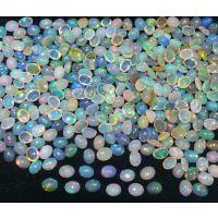 特价 批发 贵蛋白石 天然 彩色 欧泊 七彩石  8*10mm  裸石