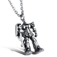 夸张首饰 精致霸天虎 威震天变形金刚项链 男士钛钢吊坠配饰GX926