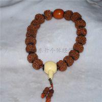 尼泊尔 藏式大金刚五瓣通货 提珠 精品藏式车挂 档位佛珠批发