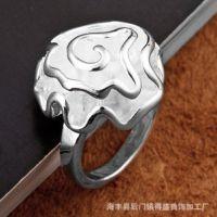 速卖通 外贸原创玫瑰花戒指批发 925银饰欧美手饰 创意戒子指环