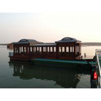 齐鲁木船厂制造10米观光木船 精品画舫船