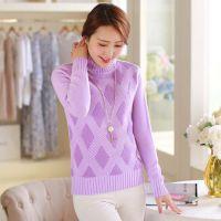 2014秋冬新款加厚套头毛衣女 韩版女装修身高领时尚针织打底衫