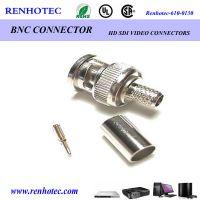 供应仁昊BNC连接器BNC-KE接线连接器BNC180°接RG179/316线