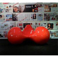 创锦鸿工艺供应创意番茄造型玻璃钢休闲椅 商场公共休息区艺术装饰等候椅