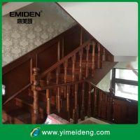 沙比利欧式整体实木楼梯/别墅室内复式实木木楼梯定制YMD-1129