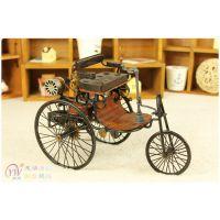 创意家居装饰品 1866奔驰老爷车复古摆件 铁艺汽车模型 厂家直销
