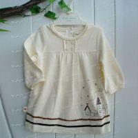 厂家直销 2013秋冬新款 出口日本娃娃长袖裙 女童裙子 童装批发