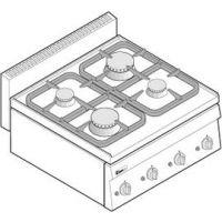 意大利特劳力TECNOINOX PC70G/0台式四头燃气炉