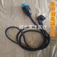手提式灭菌器消毒锅18升 24升 电源线 电源插头通用江阴滨江医疗