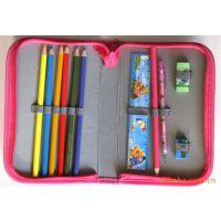 供应外贸文具组合套装迪士尼公主图案铅笔单层 双层 三层笔袋