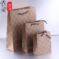厂家直销 礼品包装袋 高档首饰手提袋 牛皮纸袋 卡通图案颜色随机
