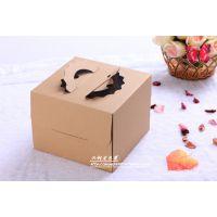 深圳厂家直销 供应 高档8寸牛皮纸蛋糕盒批发 精美手提西点盒蛋糕盒定做